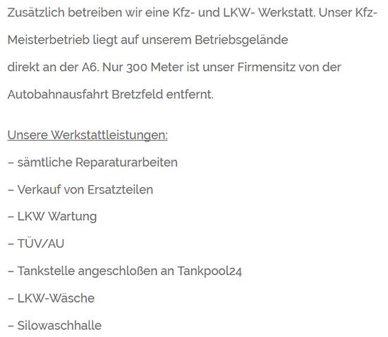 LKW Fahrer Mahlzeiten für  Wolpertshausen